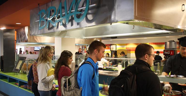 Bravo Lebanon Valley College cafeteriarsquos cooktoorder line