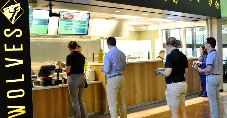 The renovated cafe in NC State39s school of veterinary medicine provides a convenient dining alternative for a campus located some distance from the university39s main array of foodservice options