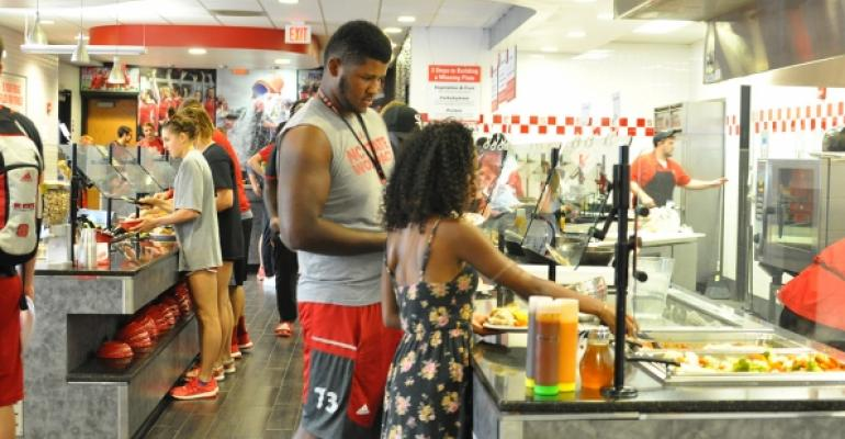 Studentathletes dine at Case Athletic Dining Hall at NC State University