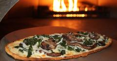 Cafeacute Nova Spinach and Mushroom Flatbread