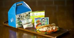 Barry Sanders Fit and Fresh kidsrsquo meal at Ford Field home to the Detroit Lions