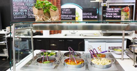 Chartwells Korean vegan station.JPG