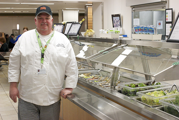 John Cruse, executive chef of culinary and nutrition services at Mason General Hospital