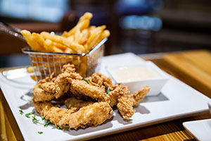 Housemade chicken tenders are among the offerings at Dave's Boathouse.