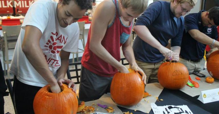A pumpkin carving contest was one of the highlights of FAU39s The Feasting Dead event
