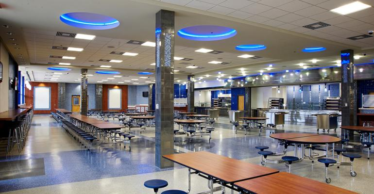 12 Cool High School Cafeterias Food Management