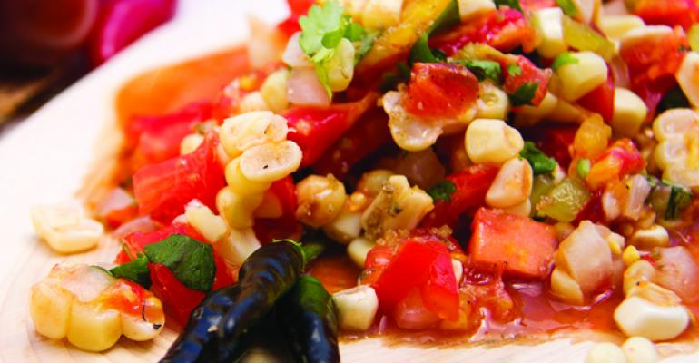 Roasted chile and corn salsa