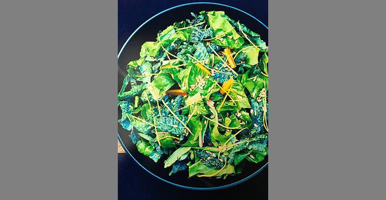 Kale and chard power salad