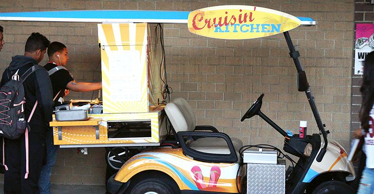 Modified golf carts have served as a prototype for a way to get supper meals to OCPS students who may not be near a cafeteria after classes end.