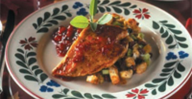 Cranberry-Citrus Chicken with Fruit Dressing