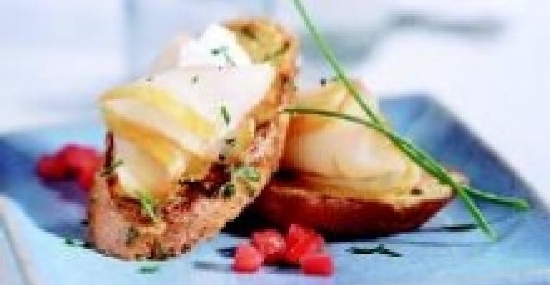 Smoked Alaska Halibut on Savory French Toast