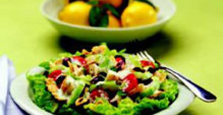 Greek Pita Salad with Potatoes