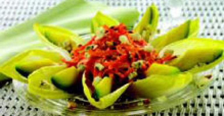 Catalan Endive and Avocado Salad with Blue Cheese