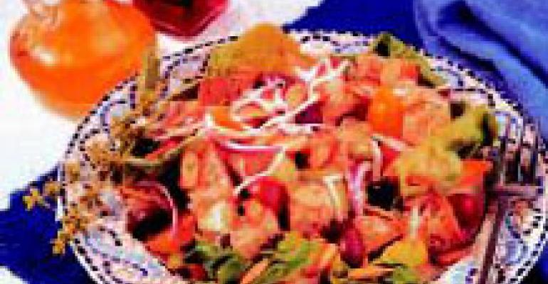 Mediterranean Bread Salad with Herb Almonds