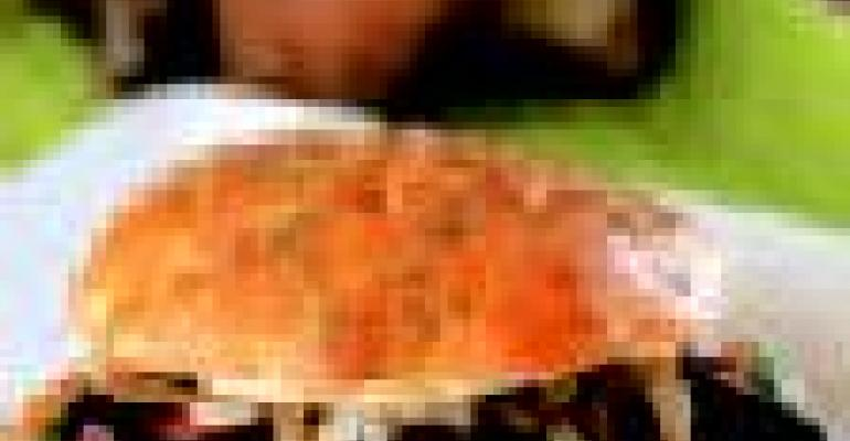 Grilled Portobello and Mozzarella Panini