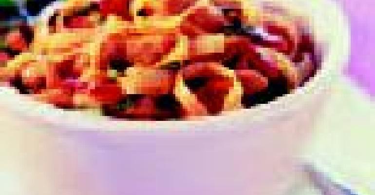 Spicy Thai Basil Chicken Noodle Bowl