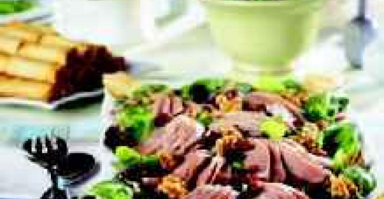 Tea Smoked Duck Salad