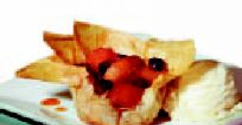 Roasted Apple Compote in Phyllo Cups