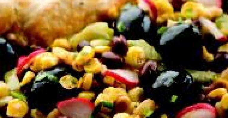 Roasted Yellow Corn, Bean & Cactus Salad