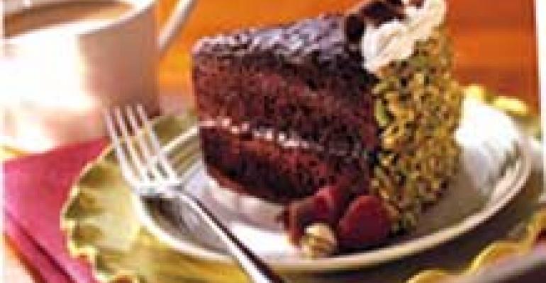 Raspberry Pistachio Chocolate Cake