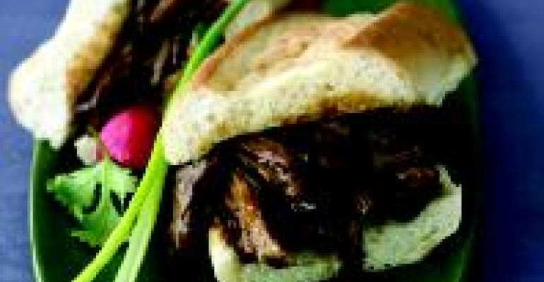 Plum Sauce Pulled Pork Sandwich