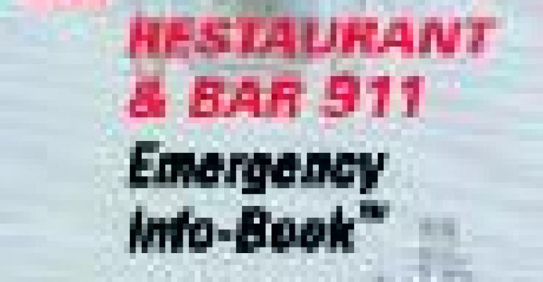 The Restaurant & Bar 911 Emergency Info-Book