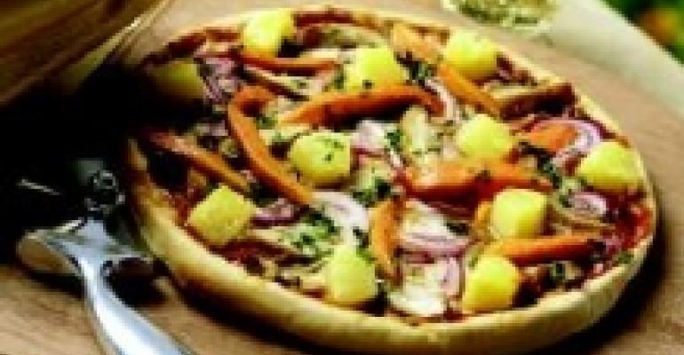 Caribbean Jerk Pineapple Pizza
