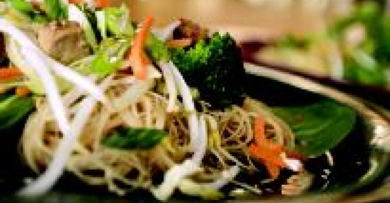 Asian Noodle Stir Fry with Tofu and Vegetables