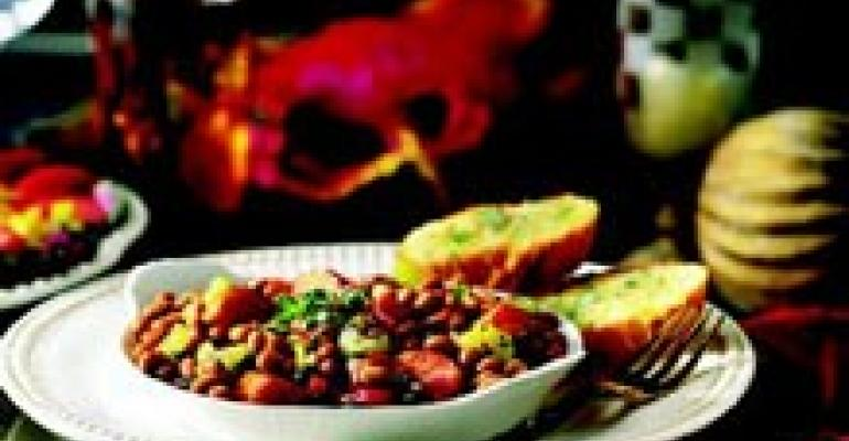 Creole Barbecue Baked Beans and Sausage