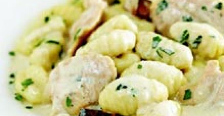 Ocean Clams and Gnocchi with Pancetta Gorgonzola Sauce