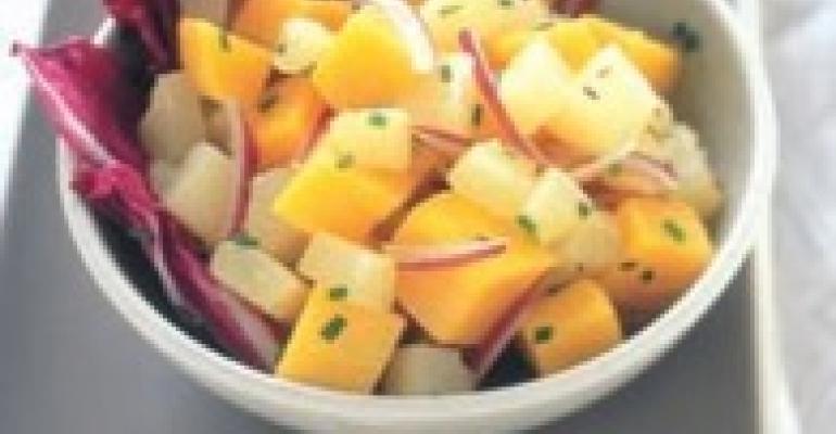 Pear and Squash Salad with Lemon-Cumin Vinaigrette