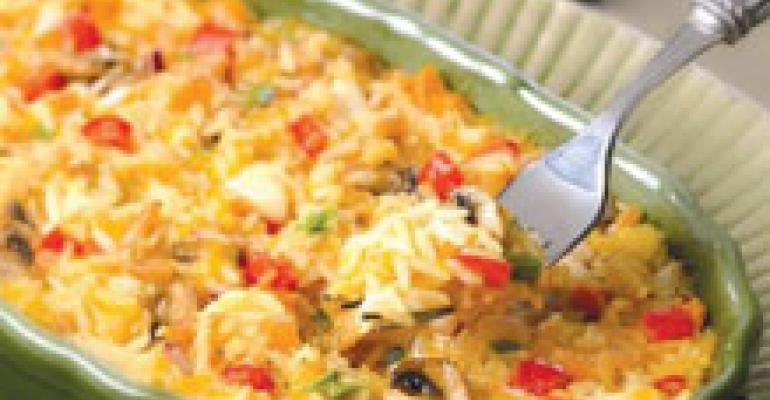 Crabmeat Au Gratin Rice Pilaf