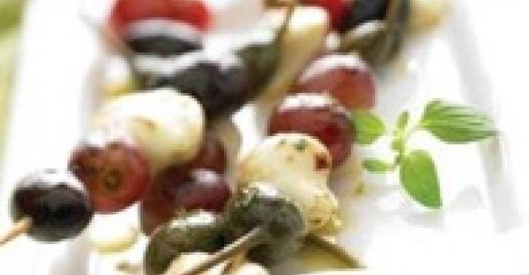 Mediterranean Grilled Mozzarella Skewers