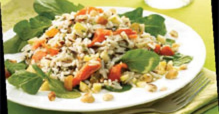 Smoked Salmon Rice Salad with Apple Vinaigrette