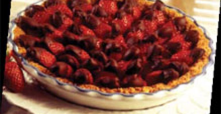 Chocolate-Dipped Strawberry Tart with Pecan Crumb Crust