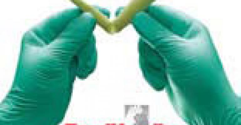 Aloe synthetic disposable gloves from FoodHandler