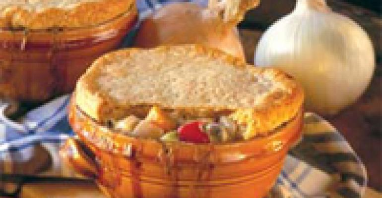Three Onion Pot Pie