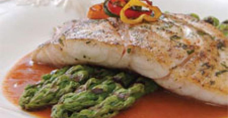 Pan-seared Florida Snapper with Roasted Red Pepper Chili Sauce