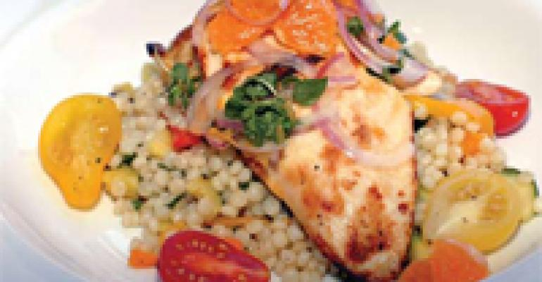 Citrus-Marinated Chicken with Couscous and Pixie Tangerine Relish