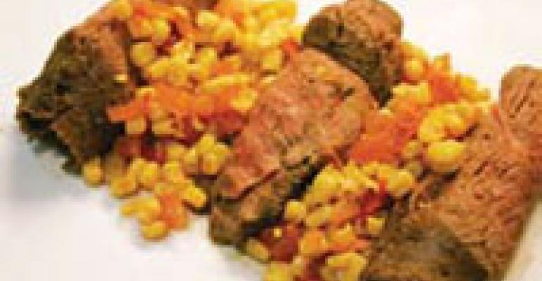 Flank Steak with Corn and Tomato Relish