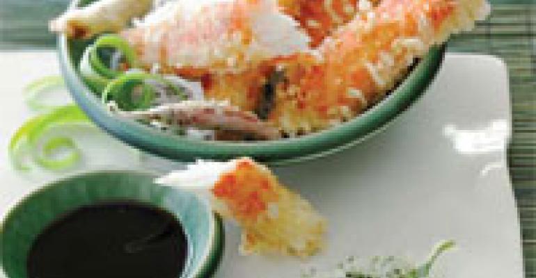 Tempura Alaska Crab Legs with Yuzu Ponzu Sauce