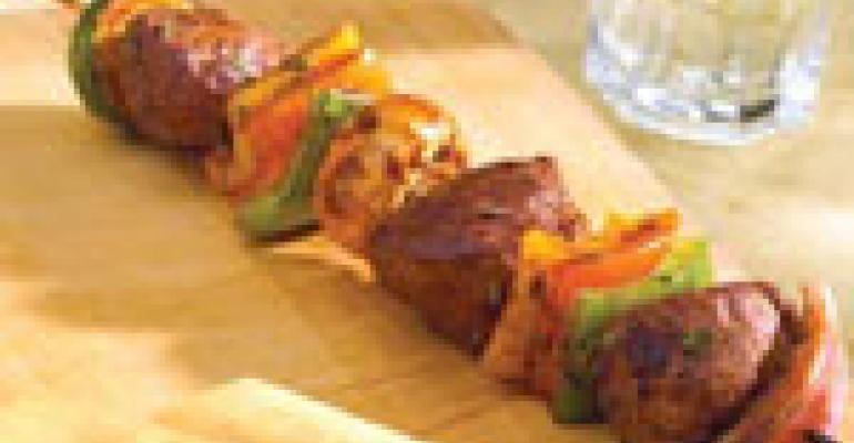 Balsamic- and Rosemary-Scented American Lamb Kabobs