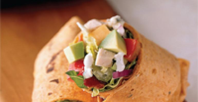 Chopped Turkey Cobb Salad Wraps