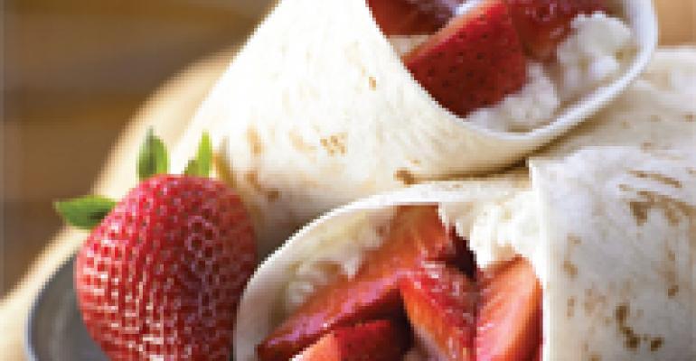 California Strawberry Chicken Wraps