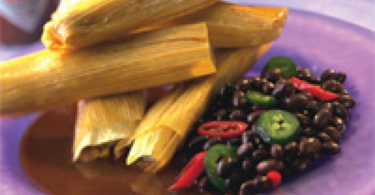 San Miguel Jalapeno Pork and Black Bean Tamales