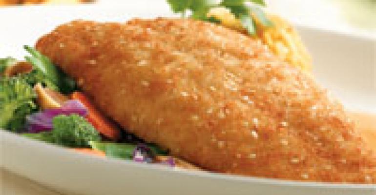 Citrus Sesame Swai with Stir Fry Vegetables