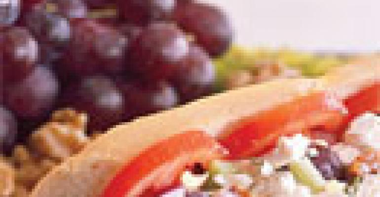 Deli Grape Walnut Chicken Baguette