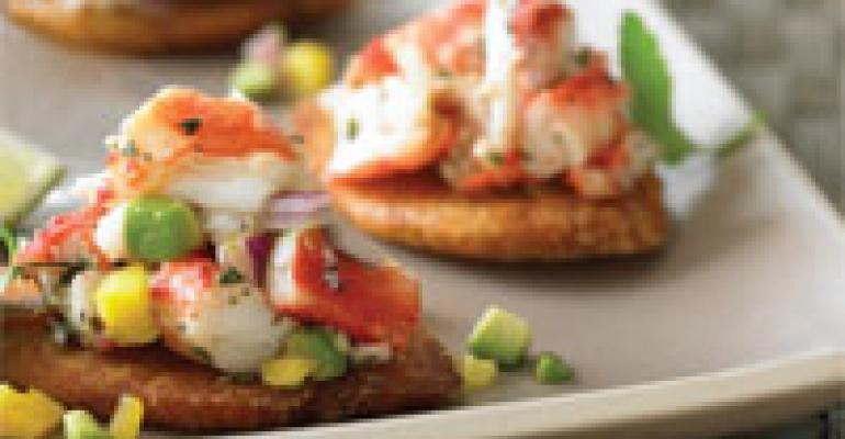 Crunchy Alaska King Crab Tostones