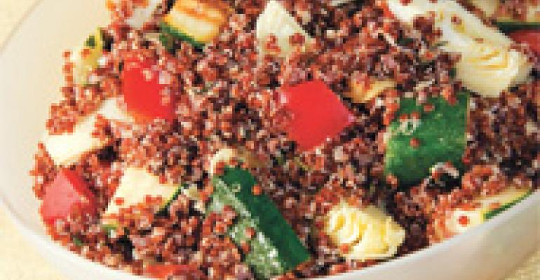 Mediterranean Red Quinoa and Vegetable Salad