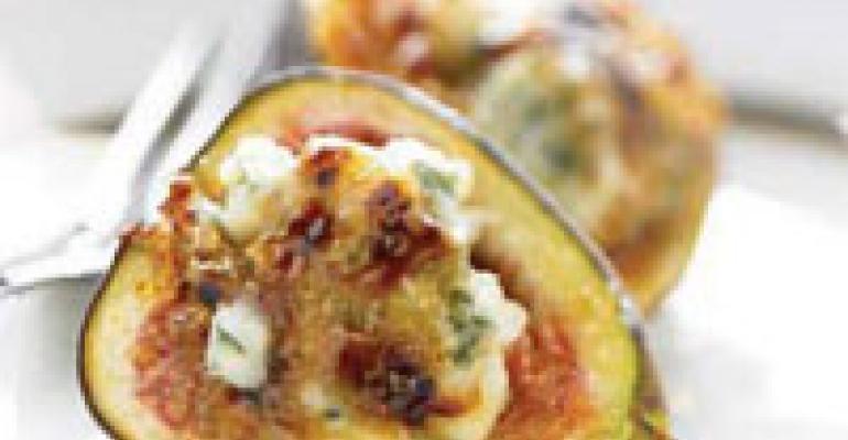 Fig Crème Brûlée with Blue Cheese